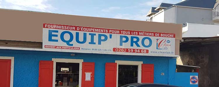 Devanture du magasin Equip'Pro by Cleanlab